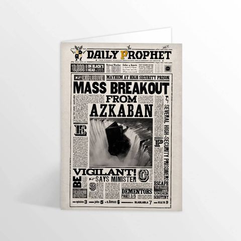 Mass Breakout - Harry Potter kaart | Minalima